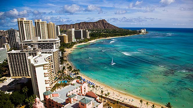 Overlooking Waikiki Beach