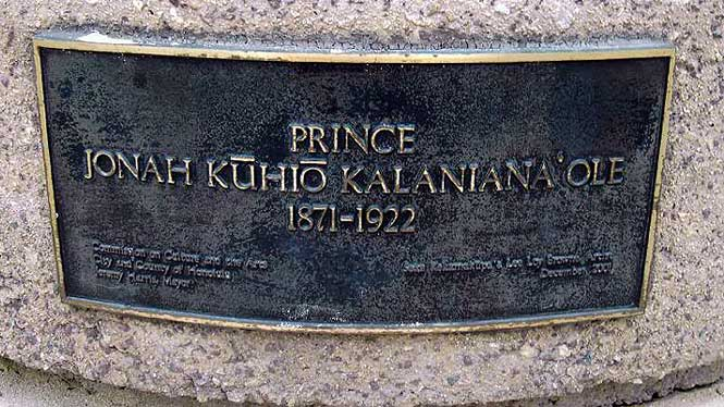 Prince Kuhio's gravestone
