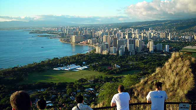 Overlooking Waikiki from Diamond Head