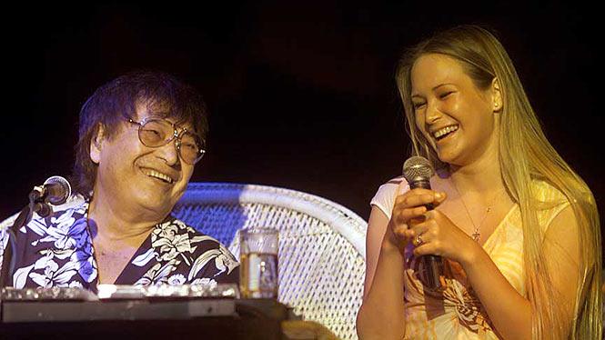 Hoku Ho and dad performing