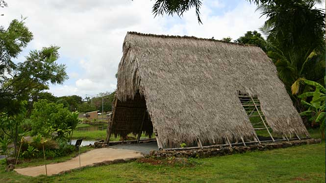 Ancient Hawaiian Hut at Hawaii Plantation Village