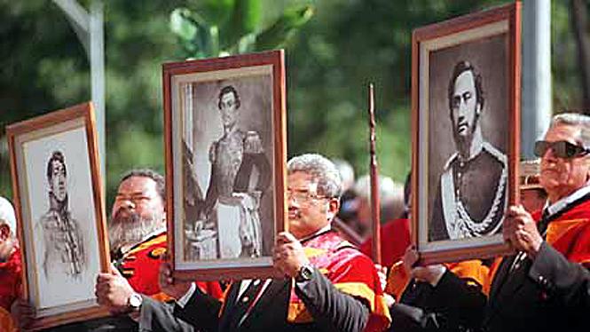Celebrating hawaii's leaders at Iolani palace