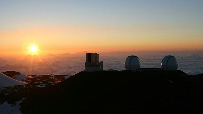 Observatory on top of Mauna Kea