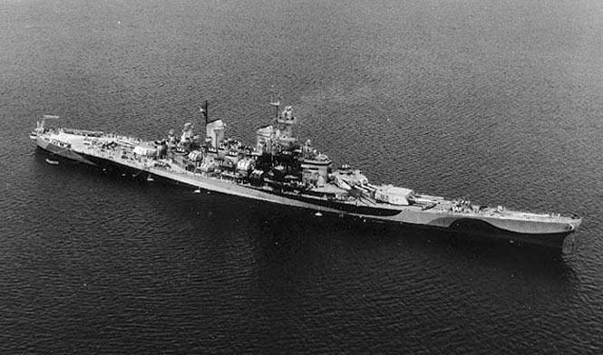 USS Missouri battleship 1944