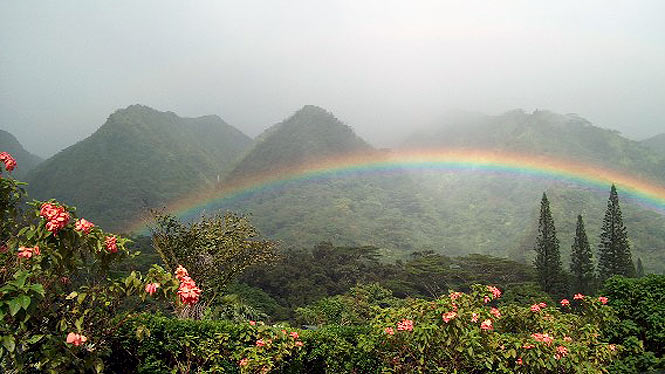 Rainbow over Makiki Valley