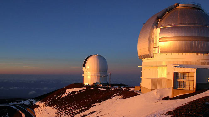 snow on top of Mauna Kea
