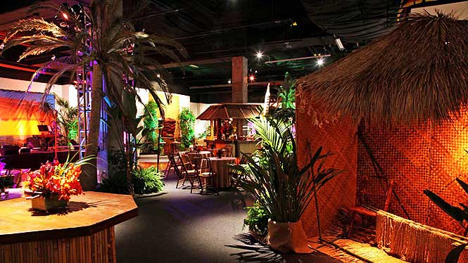 Tropical Tiki themed restaurant