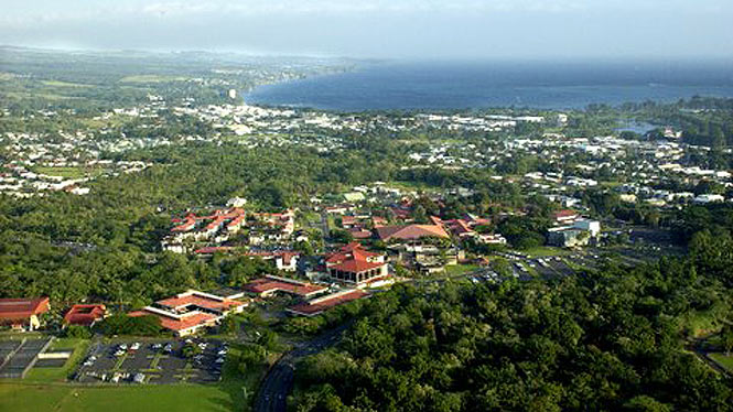 areal view of UH Hilo