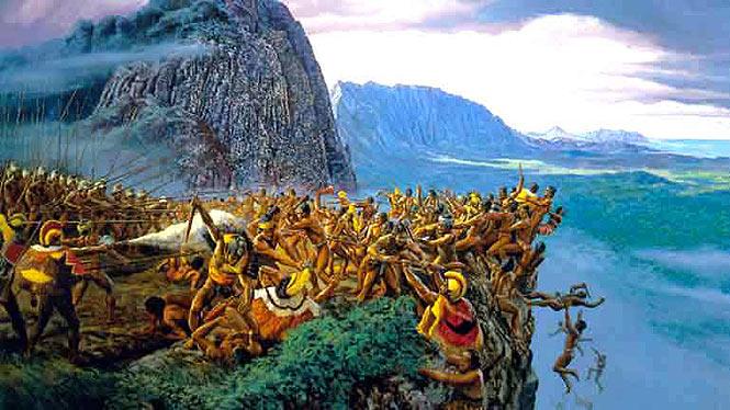 The war at Nuuanu