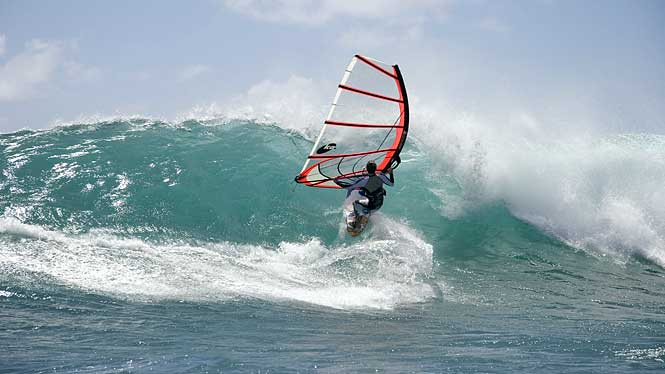 Windsurfing in Hawaii