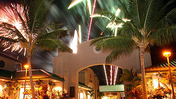fireworks over the Kings Shops at Waikoloa