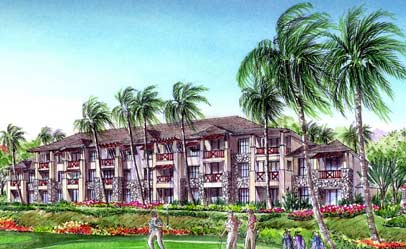 Artists rendering of the Big Island timeshares