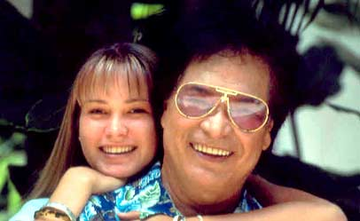 Don ho with his daughter.