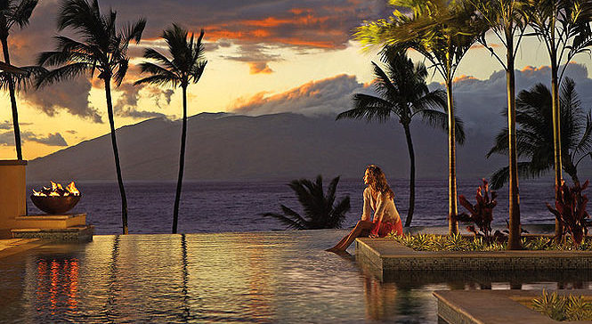 woman relaxing at the four seasons on maui
