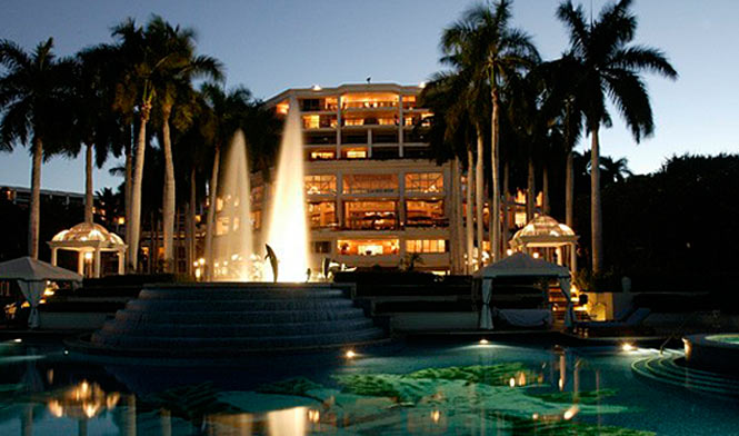 Grand Wailea hotel front at night
