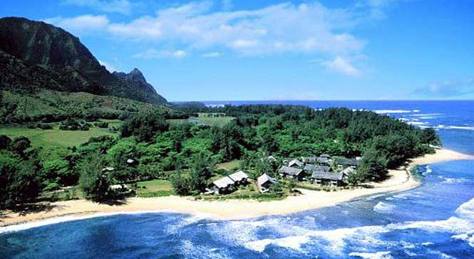 Areal view of Hanalei Colony Resort