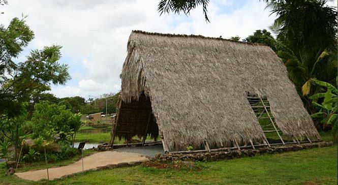 Ancient Hawaiian Hut at Hawaii Plantation Village