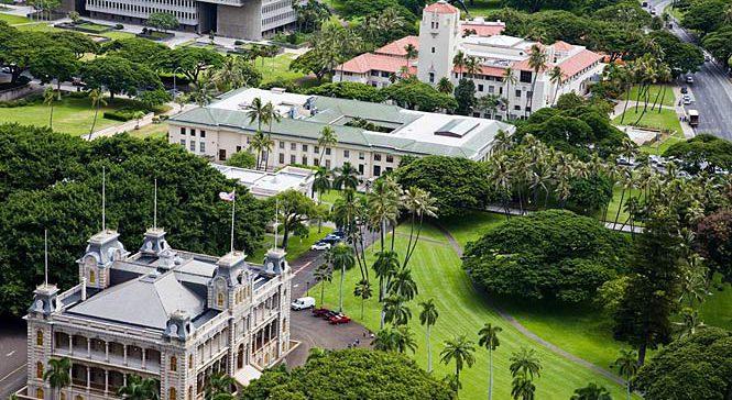 Ariel view of Honolulu