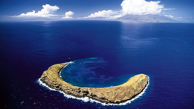 Molokini and lanai in the background