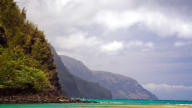 The end of the road and the beginning of the Napali Coast