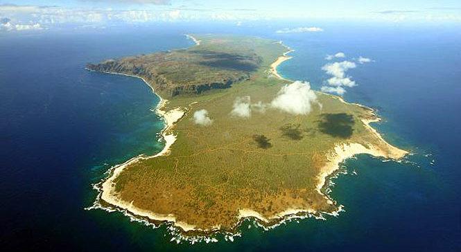 aerial view of Niihau