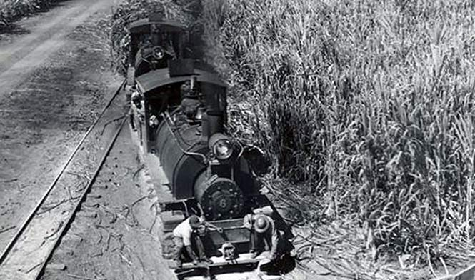 Old picture of the sugar train