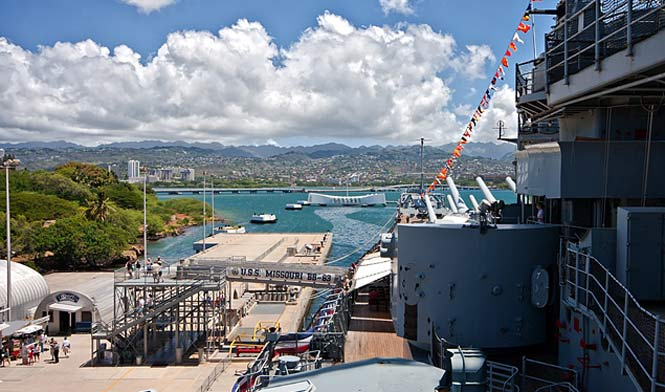 Pearl Harbor USS battleship museum entrance