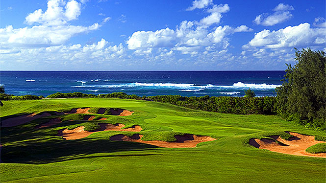 Turtle Bay golf course overlooking the ocean