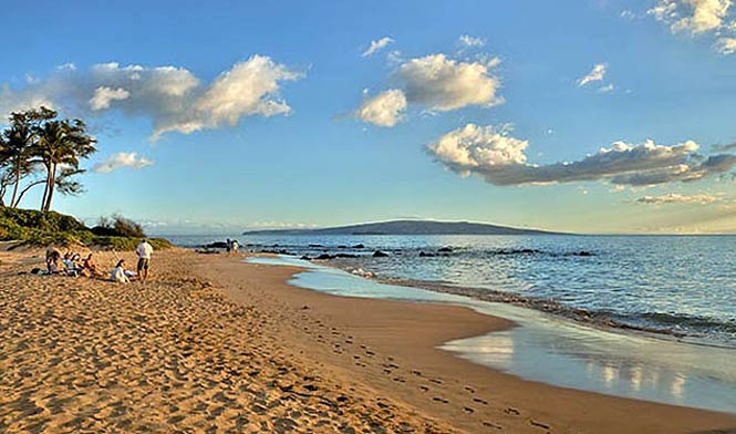 Late afternoon at Wailea beach