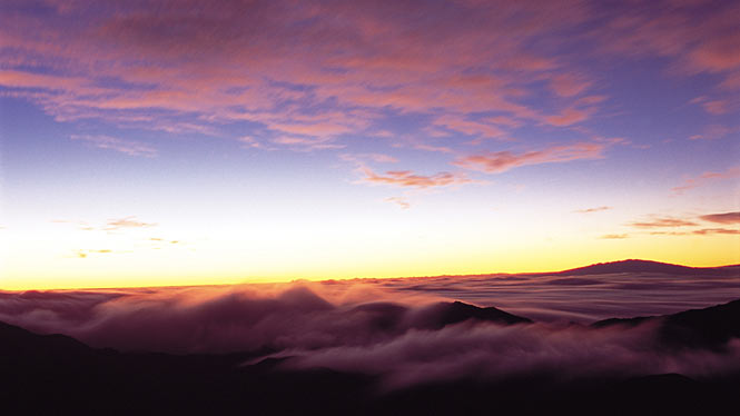 Above the clouds at Haleakala National Park