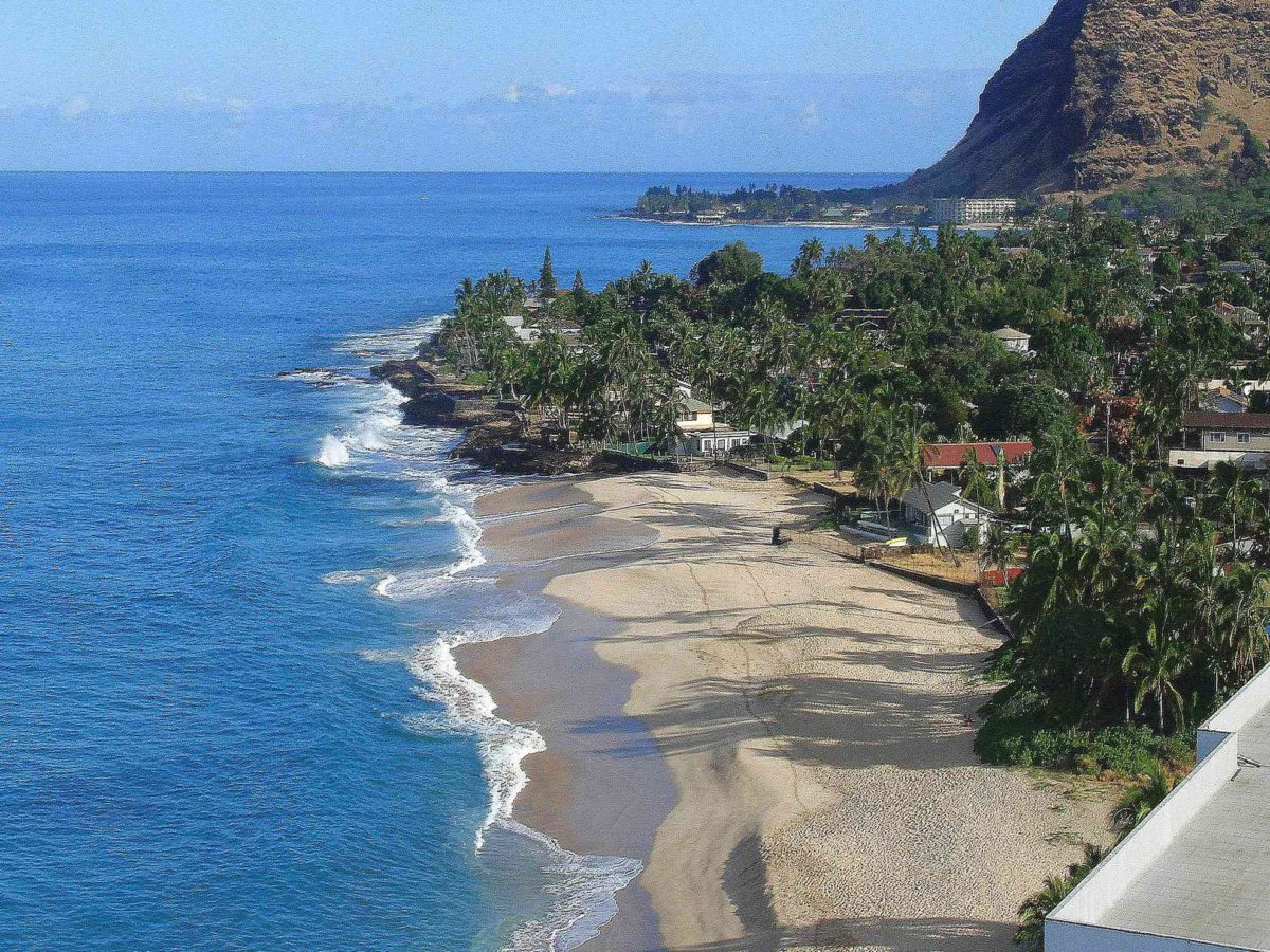 Aerial view of Makaha Beach