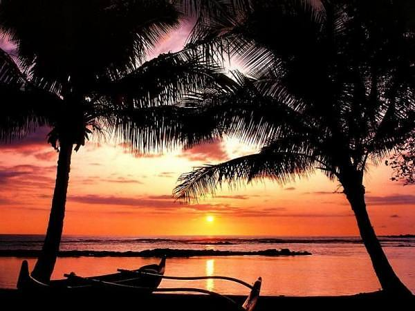 Sunset at Poiku Bay Beach Park