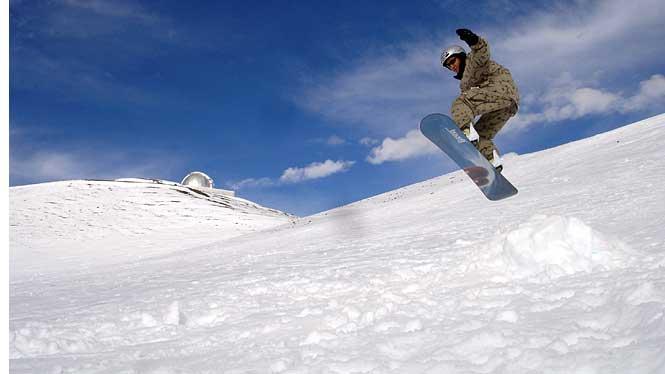 Snowboarding Mauna Kea Volcano