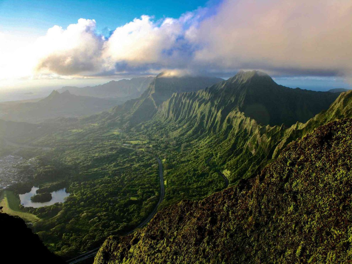 Kaneohe Oahu from the sky