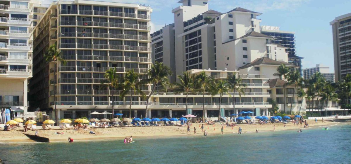 Outrigger Waikiki as seen from the water