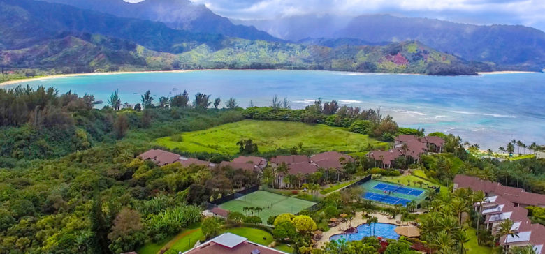Hanalei Bay Resort from above