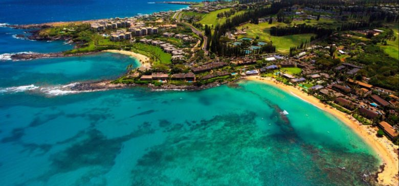 aerial view of Napili Kai beach resort